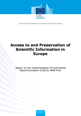 Access to and preservation of scientific information in Europe